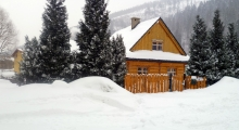 Domek w Szczyrku zimą