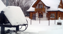 Domek Sno House w Szczyrku zimą