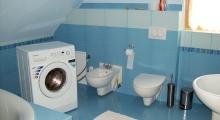Łazienka w domku w Szczyrku