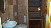 room with shower